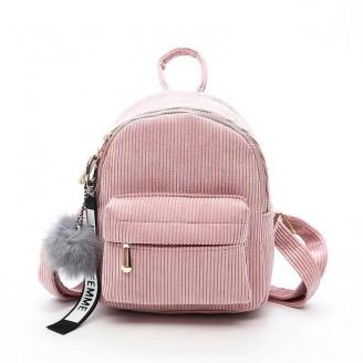 Cute Fashion Corduroy Mini Backpack [4 Variants]