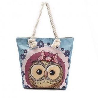 Adorable Owl Canvas Tote Bag