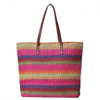 Panelled Tote Stripe Bag [3 Variants]