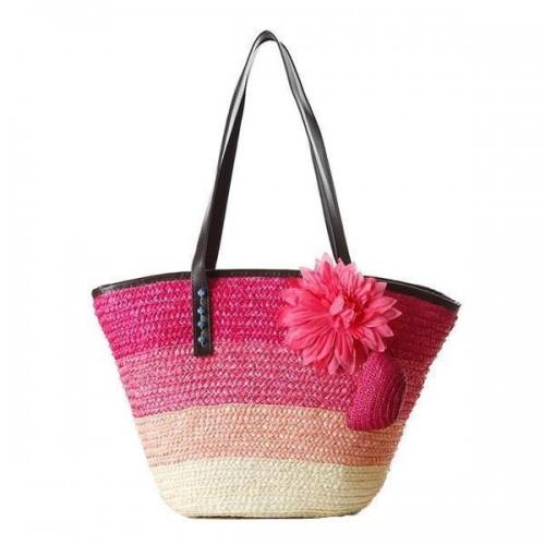 Bali Straw Embellished Tote Bag [7 Variants]