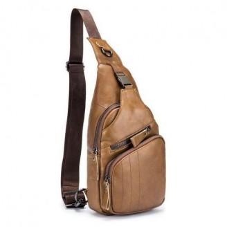 Genuine Leather Crossbody Bag [3 Variants]