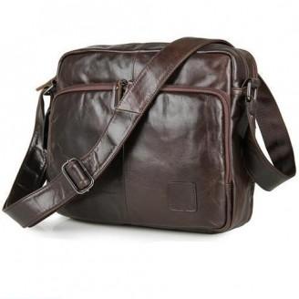 Genuine Leather Cross Body Messenger Bag [2 Variants]