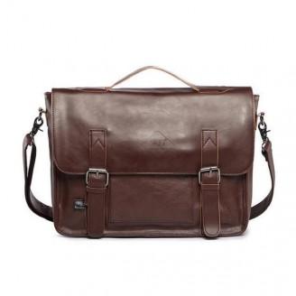 Leather Briefcase Messenger Bag [4 Variants]