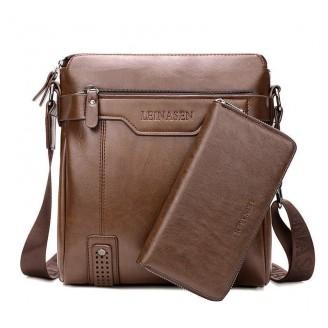 Casual Leather Messenger Bag [6 Variants]